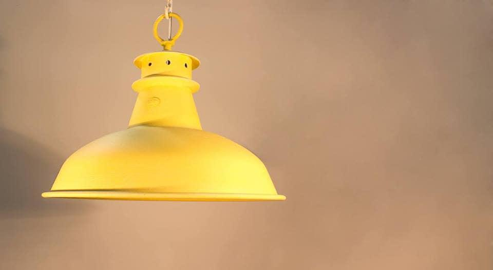 Ambiente Luce Steelworkers pendant light in yellow