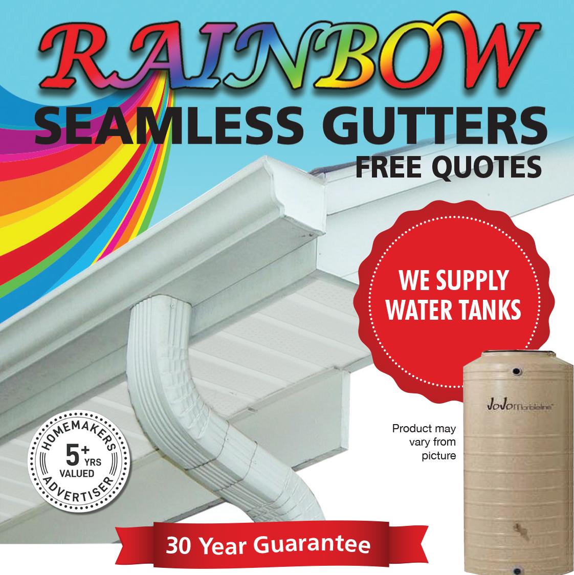rainbow seamless gutters