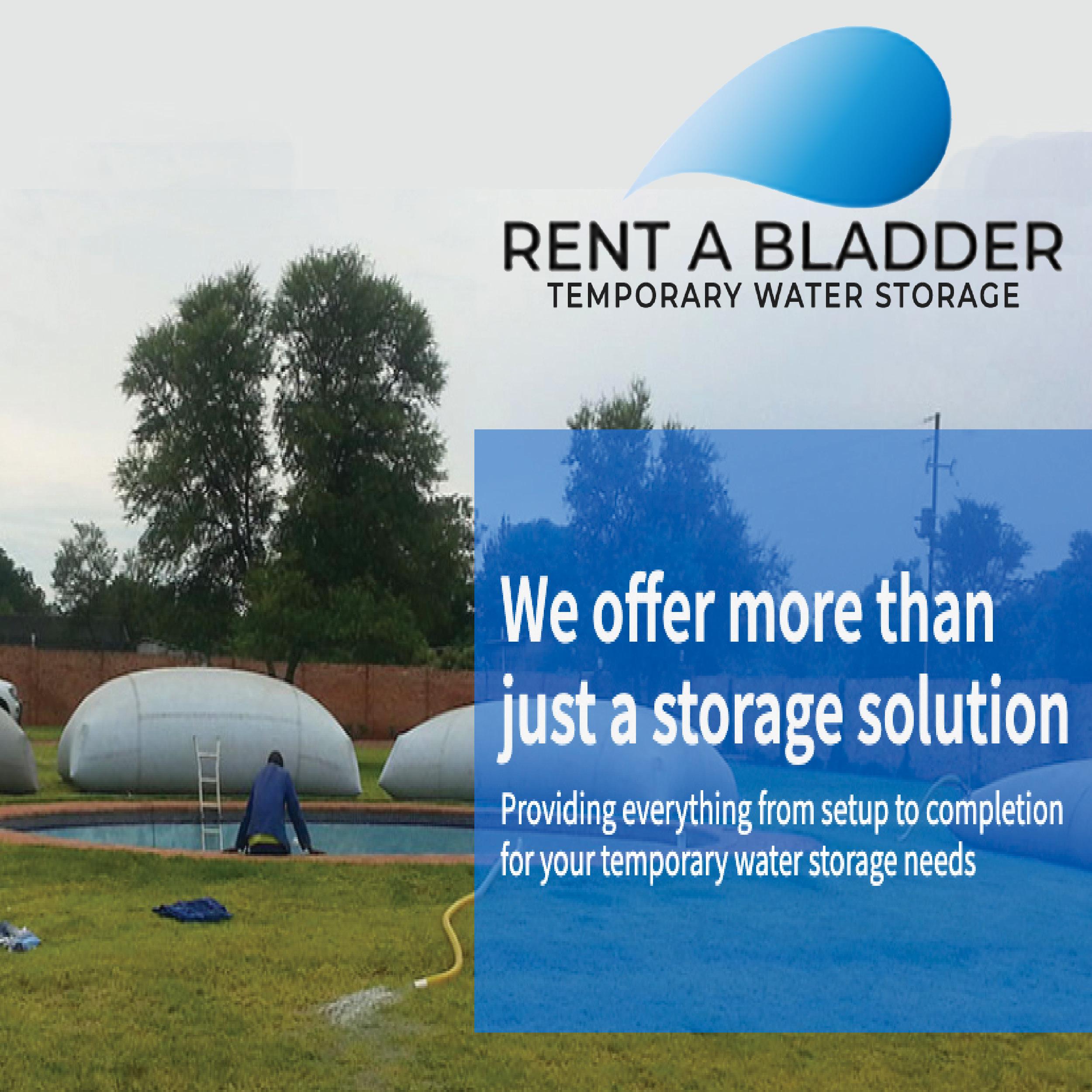 rent a bladder water storage solutions