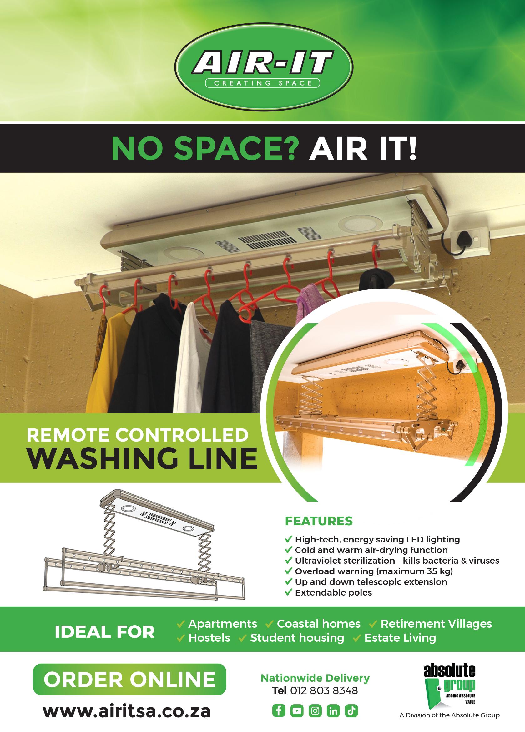 Air-It Multi-Purpose Storage and Washing Line Lift