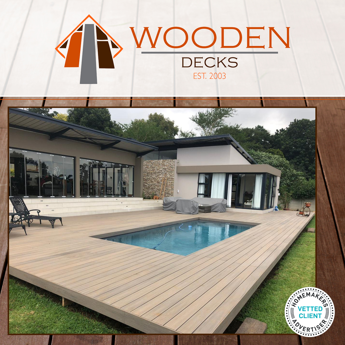 Installation of solid timbers or composite decking, balustrade, staircases, mezzanine floors and outdoor table & bench sets. We also do decking refurbishment and resurfacing of old decks.