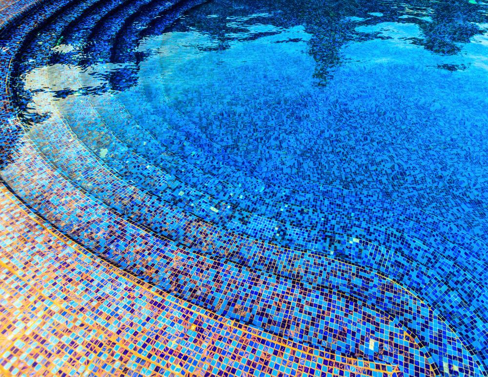 colourful pools